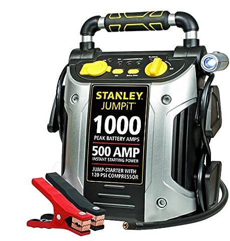 STANLEY J5C09 Jump Starter: 1000 Peak/500 Instant Amps, 120 PSI Air Compressor (Air Compressor Jumper)