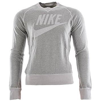 Heather Vintage Crew Nike With Logo Grey Pullover Neck Men's Dk Marl SAAqwf7H