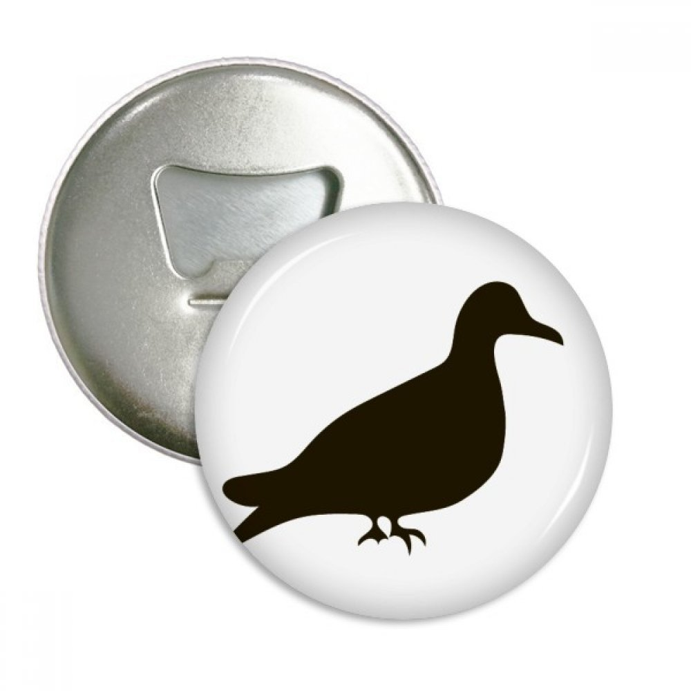 Black Pigeon Animal Portrayal Round Bottle Opener Refrigerator Magnet Badge Button 3pcs Gift