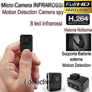 Micro cámara espía cámara espía Infrarrojo Sensor de movimiento