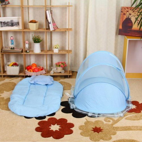 MAZIMARK--Baby Infant Portable Folding Travel Bed Crib Canopy Mosquito Net Tent FoldableSG by MAZIMARK