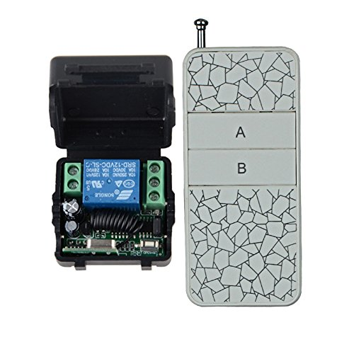 Lejin DC12V Door Access Remote Control Wireless Switch System Momentary Learning Transmitter Momentary Toggle Adjusted by Lejin