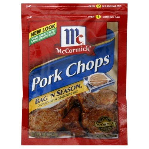 McCormick Bag 'N Season Pork Chops Cooking Bag & Seasoning Mix 1.06 oz (Pack of 6) by McCormick