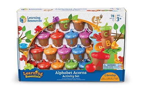 51Bd%2BP2hfwL - Learning Resources Alphabet Acorns Activity Set, 78 Pieces