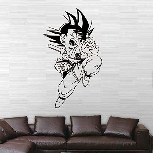 HEYEJET DS076 Goku Dragon Ball Decorative Painting Vinyl Wall Sticker Cartoon Figure Decals for Kids Room