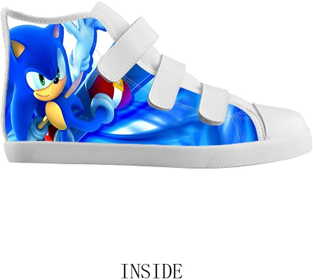 Amazon Com Velcro High Top Kid S Canvas Shoes Sonic The Hedgehog For Boy Sneakers