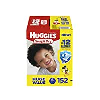 HUGGIES Snug & Dry Diapers, Size 5, 152 Count