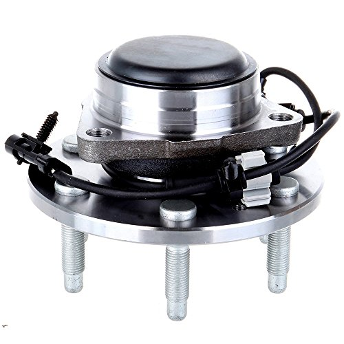 ECCPP Wheel Hub and Bearing Assembly Front 515054 fit 1999-2012 Chevy Sierra GMC Silverado Cadillac Replacement for 6 Lugs Wheel Hubs with ABS ()