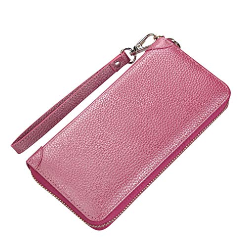 Leather Wallet Women Long Zipper Purse Large Coin Pocket Ladies Card Holder Pouch Money Bag by WUDEF