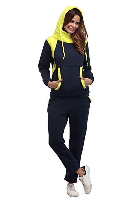 X-xyA Sudadera Informal para Mujer Sudadera con Capucha Pantalones ...