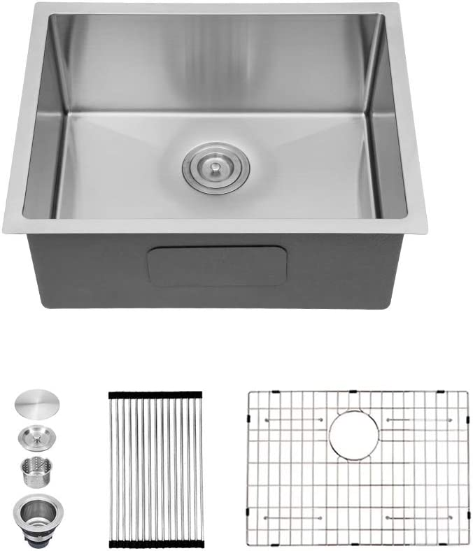 "Kitchen Sink Undermount - Sarlai 27"" x 18"" Bar Prep Undermount Single Bowl 16 Gauge Stainless Steel Kitchen Sink"