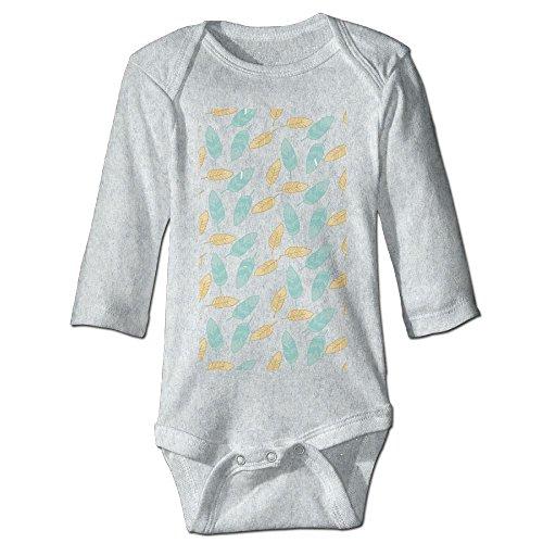 Price comparison product image Richard Unisex Toddler Bodysuits Leaf Baby Babysuit Long Sleeve Jumpsuit Sunsuit Outfit 18 Months Ash