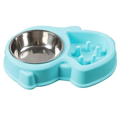 Amazon.com: TALZG cuencos para perros, comederos lentos de ...