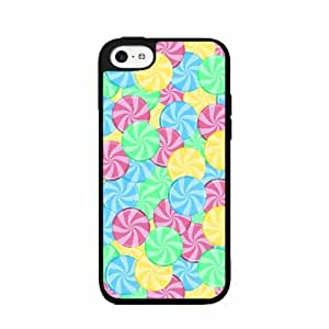 Colorful Hard Candy - Case Back Cover (iPhone 5c Black - Plastic)