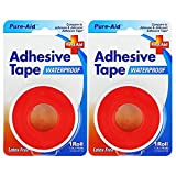 PURE-AID First Aid Waterproof Adhesive Tape (2 Rolls)