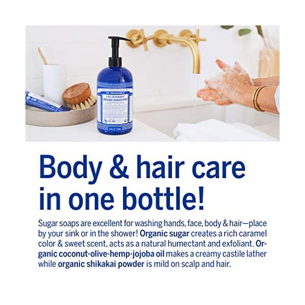 Dr. Bronner's Organic 4-in-1 Shikakai Peppermint Hand Soap