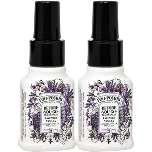 Poo-Pourri Lavender Vanilla 1.4 oz, 2 Count by Poo-Pourri