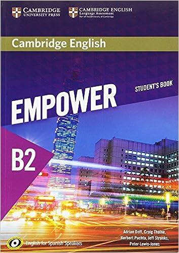 Amazon com: Cambridge English Empower for Spanish Speakers B2