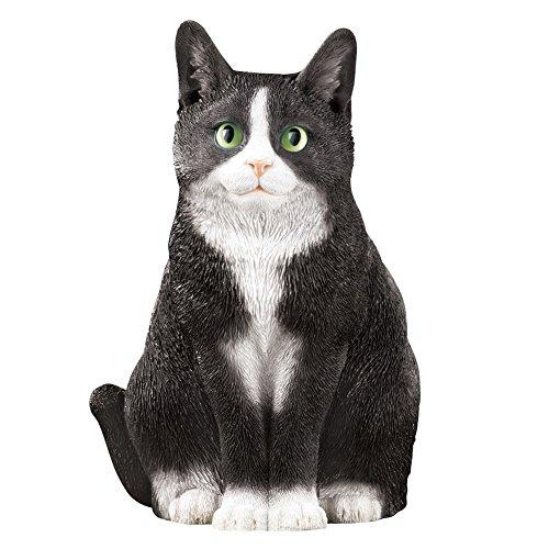 Collections Etc Pretty Kitty Cat Garden Figurine, Tuxedo Cat (Kitty Cat Figurine)