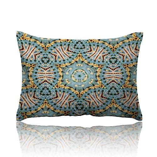 (Anyangeight Boho Cool Pillowcase Tribal Boho Pattern with Odd Geometric Triangles Sacred Shapes Oriental Art Print Long Pillowcase 16