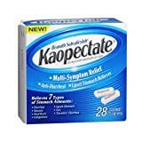 Kaopectate Multi-Symptom Relief Anti-Diarrheal Upset Stomach Reliever Caplets - 28 Ct (Pack 2)