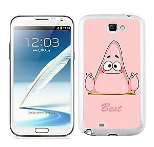 Easy Set,Fasionable Case Best Friend SpongeBob Patrick Samsung Galaxy Note 2 White Phone Case