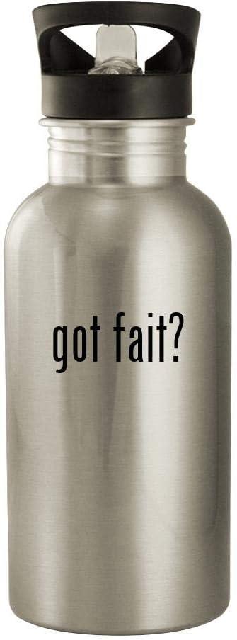 B07WLBYVRY got fait - 20oz Stainless Steel Water Bottle, Silver 51Bd1jXBu3L