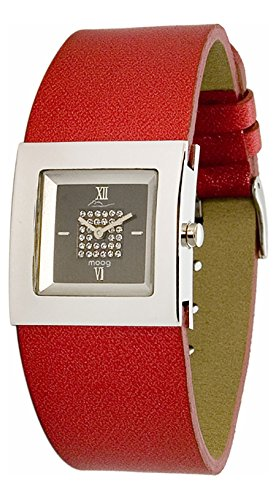 Moog Paris - Harmony - Women's Watch with black dial, red strap in Genuine leather, made in France - M41351-003