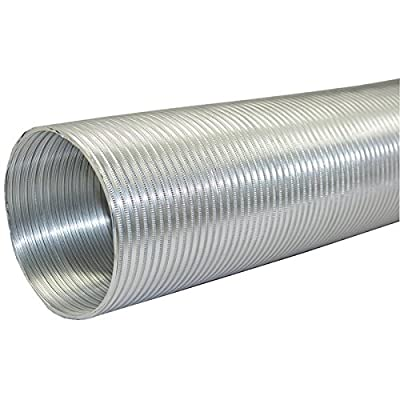 "Builder's Best 111586 Semi-Rigid Aluminum Duct with 6"" Dia, 8'"