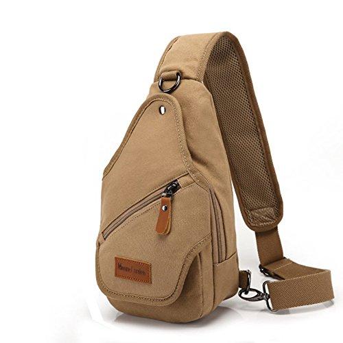 bolsa de lona Varonil pecho/Diagonal casual individual masculino hombro pecho Pack/ mochilas Ola coreana lona hombres-D D