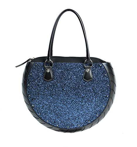 Borsa Ty's Bag Glitter Blu colre blu in glitter e gomma made in Italy