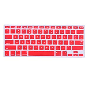 HDE Ultra Thin Silicone Rubber Keyboard Skin Cover for Macbook Pro Non Retina 13/15/17 (Red)