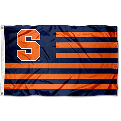 Syracuse Orange Nation Stripes Flag by College Flags and Banners Co.