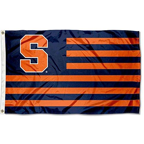 (Syracuse Orange Stars and Stripes Nation Flag )