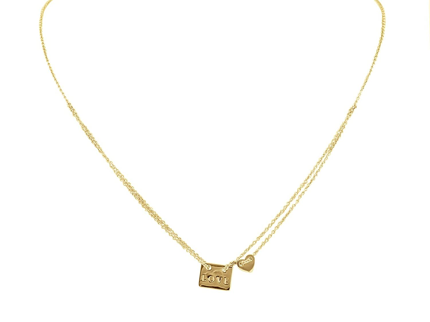 FRONAY Yellow Gold Plated Sterling Silver Star of David Pendant Necklace