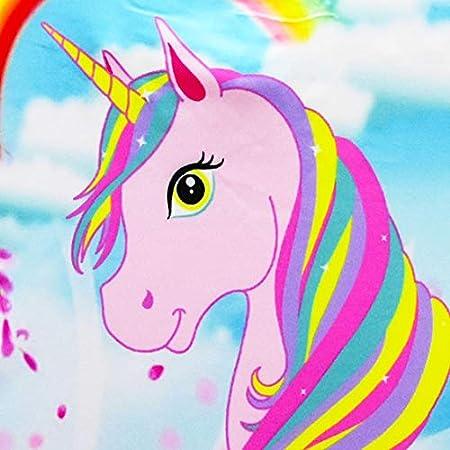 Monissy Niña Verano Bañador de Una Pieza 3-10años 100-140 Vacaciones Cumpleaños Nadar Trajes de Baño Sin Mangas Unicornio Impresión Secado Rapido Transpirable Infantil Ropa de Playa