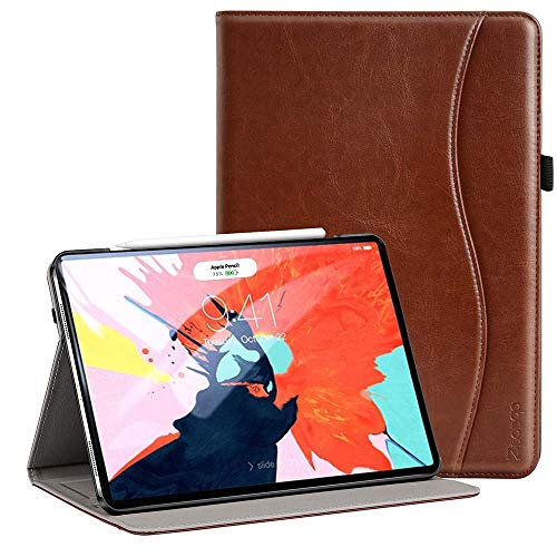 Ztotop for iPad Pro 12.9 Case 2018, Premium Leather Slim Stand Cover Folio Case for iPad Pro 12.9-Inch 3rd Generation (Latest Model) with Auto Sleep/Wake, Support Charge/Pair, Brown