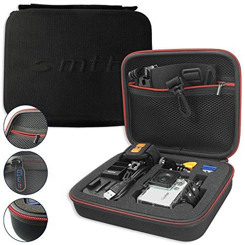 mtb more energy® Schutztasche XL für Rollei Action Cam 430, 425, 420, 415, 410, 400, 300(+), 240, 230, 220 / 7S Wifi, 6S, 5S - Schwarz - Koffer Case Stecksystem Modular