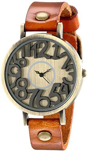 Unique Handmade Leather Watch Round