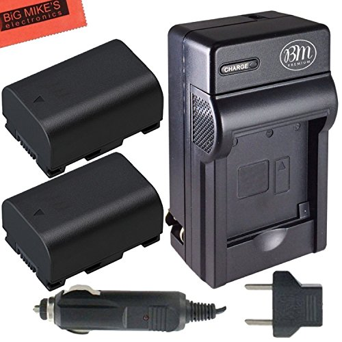 Pack of 2 BN-VG114 Batteries and Battery Charger for JVC ...
