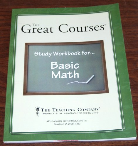 Download The Great Courses: Study Workbook for Basic Math PDF