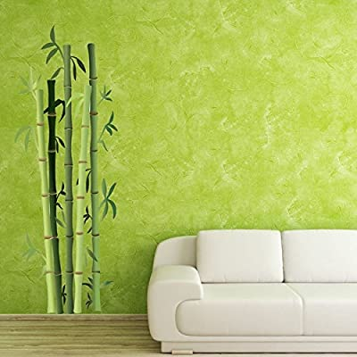 Bamboo Bushes Wall Decal by Style & Apply - Floral Wall Decal, Plant Sticker, Vinyl Wall Art, Green Bamboo Decor - DS 914