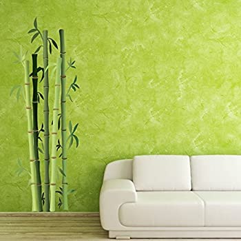 Amazoncom Bamboo Bushes Wall Decal By Style Apply Floral - Vinyl wall decals bamboo