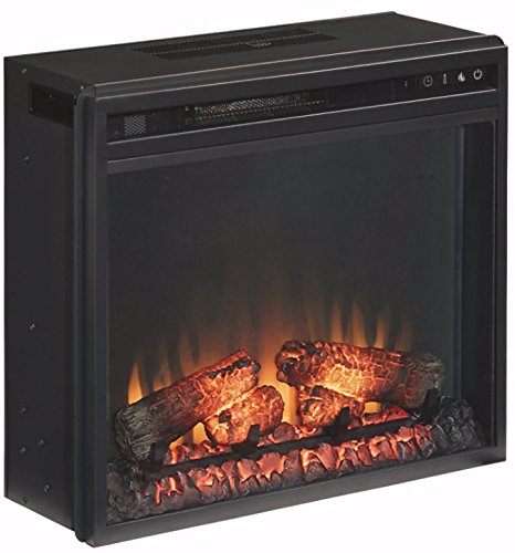 Ashley Furniture Signature Design - Small Electric Fireplace Insert - Includes Insert Only - TV Stand Sold Separately - Black (Electric Fireplace Tv)