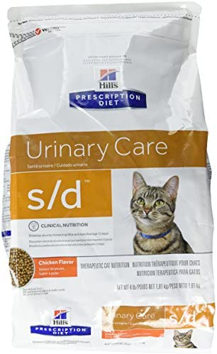 Hill S Diet S D Feline Urinary Care Cat Food 4 Lb Bag