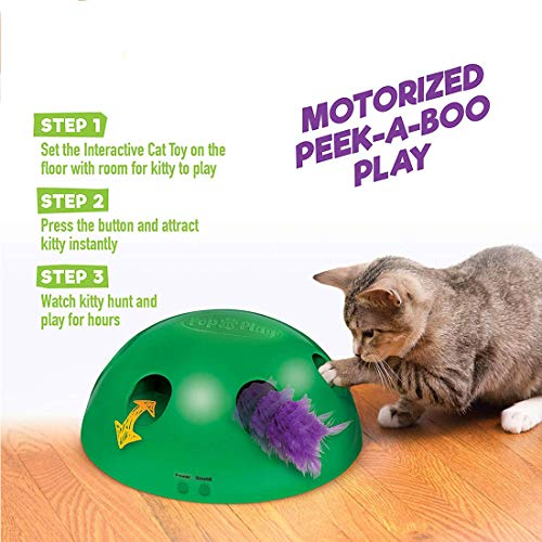GETIEN Cat Toys Replacement Packs Including One Mouse One Fish and One Feather for Interactive Motion Cat Toys 4