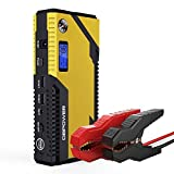 DBPOWER 500A Peak 12000mAh Portable Car Jump Starter Auto Battery Booster, Engines up to 3L Gas and 2.5L Diesel, Portable Jump Starter with Smart Charging Port, Compass & LCD Screen & LED Flashlight