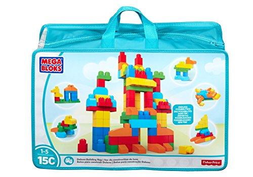 Mega Bloks Deluxe Building Bag 150-Piece (Toddler Building Blocks)
