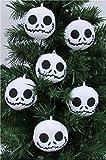 "Nightmare Before Christmas Plush Ornament Set Featuring 6 Jack Skellington Christmas Tree Plush Ornaments - Average 2.5"" Round"