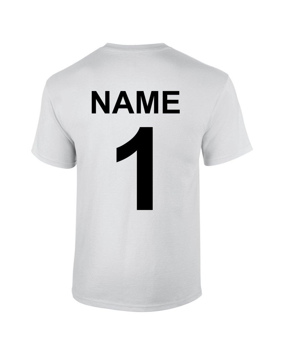 S.B.J - Sportland Funktionsshirt/Laufshirt / Sportshirt Performance T-Shirt mit Rückennummer und Name für Kinder